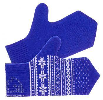 Варежки «Скандик», светло-синие