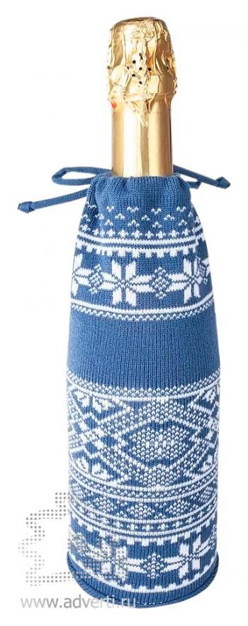 Чехол для шампанского «Скандик», синий