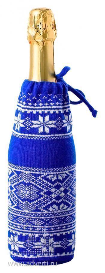 Чехол для шампанского «Скандик», светло-синий