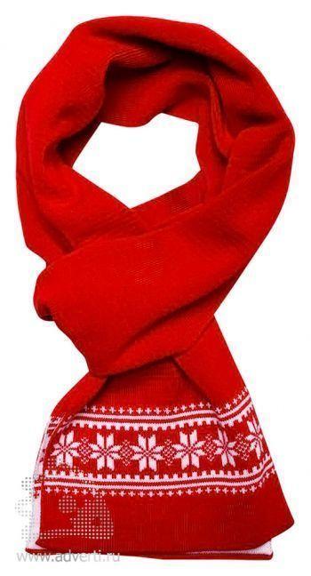Шарф «Скандик», красный
