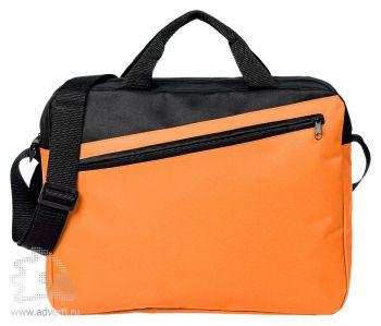 Конференц-сумка «Unit Diagonal», оранжевая
