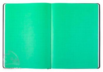 Блокнот «BiColor», цветное вложение в цвет резинки на блокноте