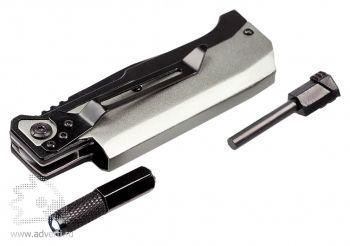 Нож складной «Ster» с фонариком и огнивом, фонарик и огниво