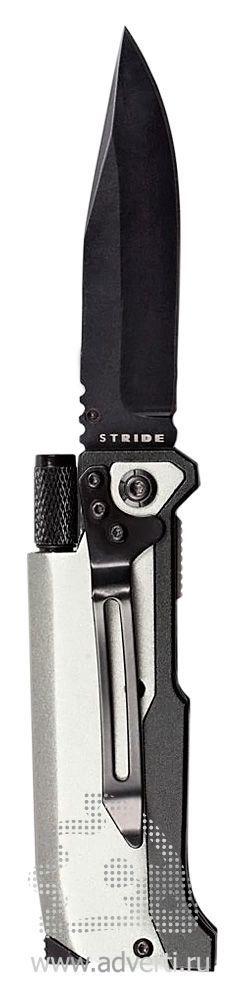 Нож складной «Ster» с фонариком и огнивом