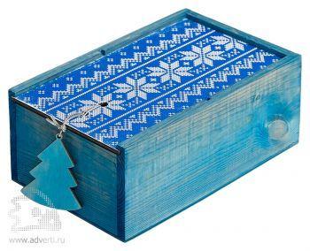 Подарочный новогодний набор «Праздничное чаепитие», синяя упаковка