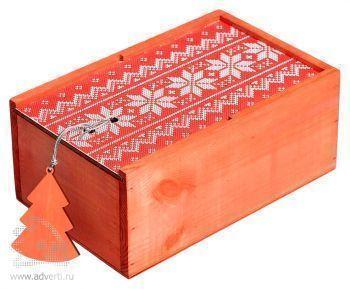 Подарочный новогодний набор «Праздничное чаепитие», красная упаковка
