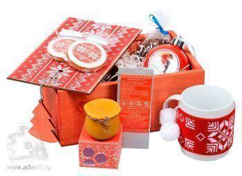 Подарочный новогодний набор «Праздничное чаепитие», красный