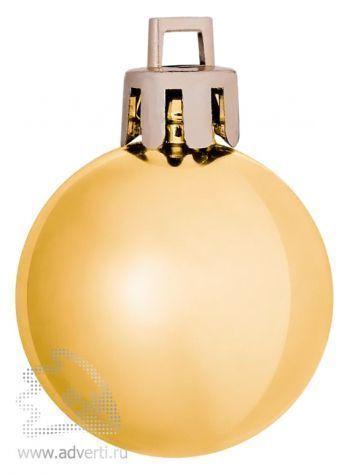 Елочный шар «Shiny 8», золотистый
