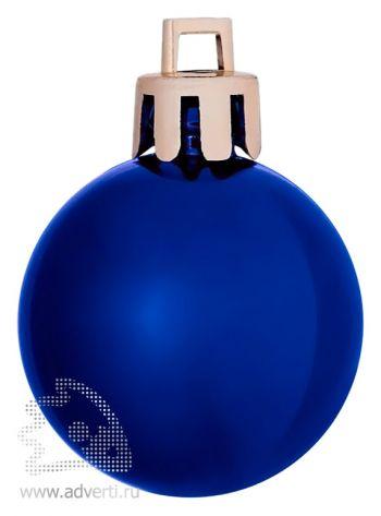 Елочный шар «Shiny 8», синий