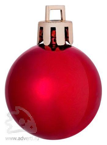 Елочный шар «Shiny 8», красный