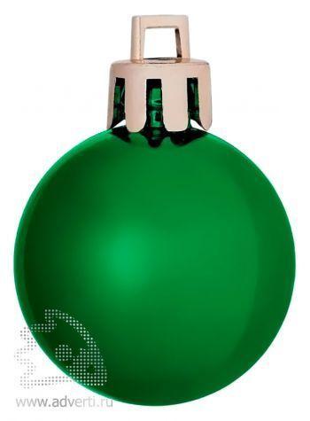 Елочный шар «Shiny 6», зеленый
