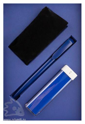 Набор «Energy»: шариковая ручка «Stilolinea», аккумулятор «Li-ion» (емкость 2200 mAh), провод USB c переходниками Micro-USB,  iPhone 4/4S, iPhone 5/5C/5S, iPhone 6/6 Plus