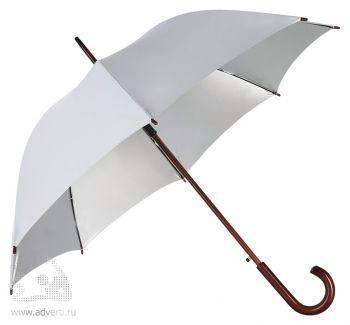 Зонт-трость «Unit Standard», полуавтомат, серый