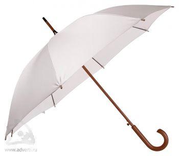 Зонт-трость «Unit Standard», полуавтомат, серебристый