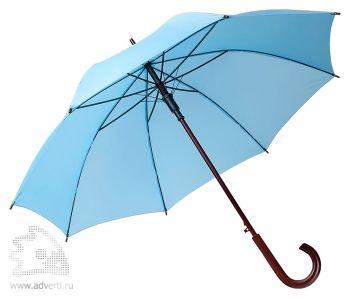 Зонт-трость «Unit Standard», полуавтомат, голубой
