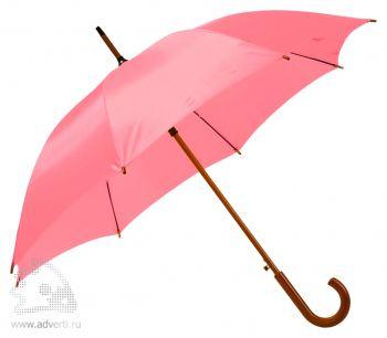 Зонт-трость «Unit Standard», полуавтомат, розовый