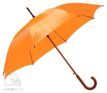 Зонт-трость «Unit Standard», полуавтомат, оранжевый