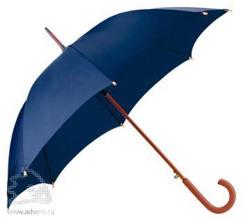 Зонт-трость «Unit Standard», полуавтомат, темно-синий