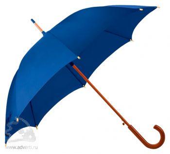 Зонт-трость «Unit Standard», полуавтомат, синий