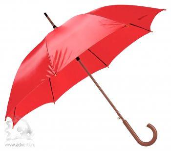 Зонт-трость «Unit Standard», полуавтомат, красный