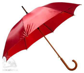 Зонт-трость «Unit Standard», полуавтомат, бордо