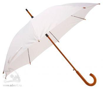 Зонт-трость «Unit Standard», полуавтомат, белый