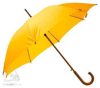 Зонт-трость «Unit Standard&raquo, полуавтомат, желтый