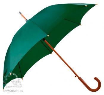 Зонт-трость «Unit Standard», полуавтомат, зеленый