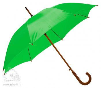 Зонт-трость «Unit Standard», полуавтомат, светло-зеленый