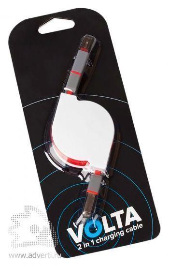 Кабель «Volta», 2 в 1, упаковка