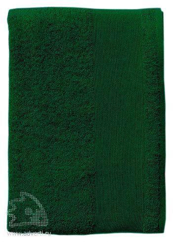 Полотенце махровое «Island Small», темно-зеленое