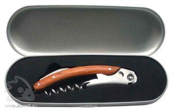 Нож сомелье в металлическом футляре, упаковка