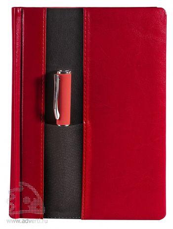 Ежедневник «Футляр», красный