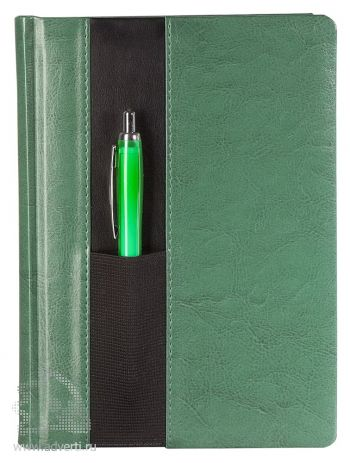 Ежедневник «Футляр», зеленый