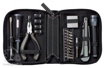Набор инструментов в чехле «Standart», черный открытый
