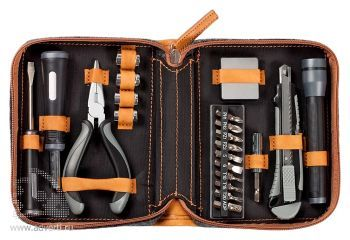 Набор инструментов в чехле «Standart», серый открытый