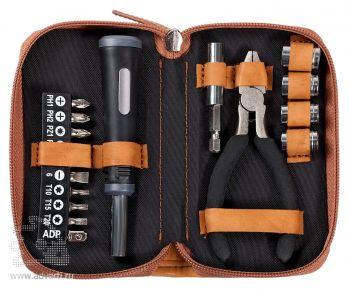 Набор инструментов в чехле «Compact», серый открытый