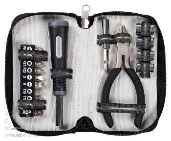 Набор инструментов в чехле «Compact», черный открытый