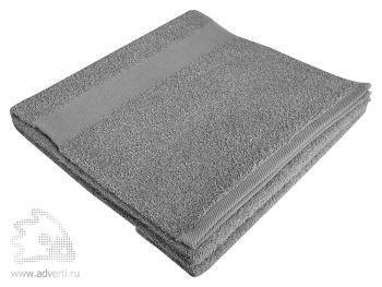 Полотенце махровое «Large», серое