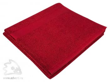 Полотенце махровое «Large», бордовое