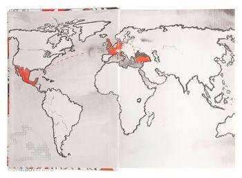 Ежедневник «Гражданин мира», карта мира
