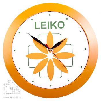 Часы настенные «Vivid Large». оранжевые