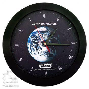 Часы настенные «Vivid Large», черные