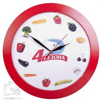 Часы настенные «Vivid Large», красные