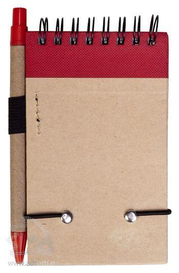 Блокнот на кольцах «Eco note» c ручкой, оборот