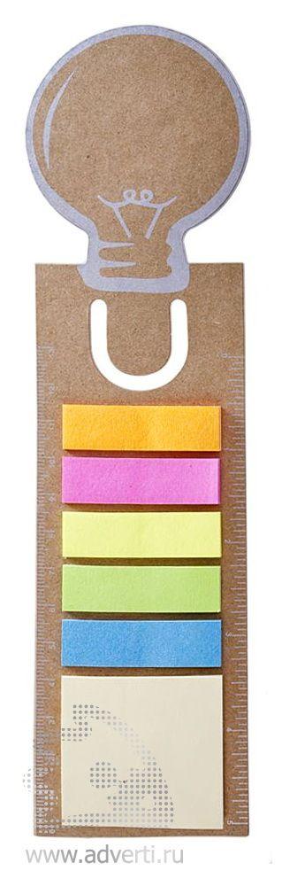 Закладка «Есть идея!» с набором клейких листочков