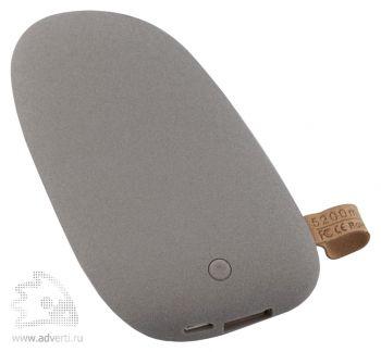 Универсальный внешний аккумулятор «Pebble» 5200 mAh, серый