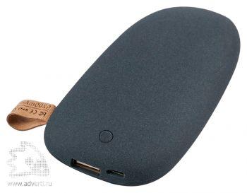 Универсальный внешний аккумулятор «Pebble» 5200 mAh, темно-серый