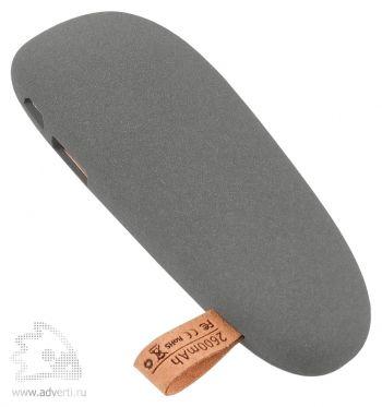 Универсальный внешний аккумулятор «Pebble» 2600 mAh, серый