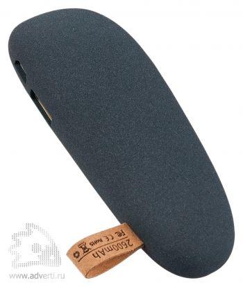 Универсальный внешний аккумулятор «Pebble» 2600 mAh, темно-серый
